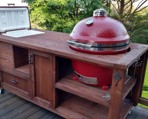 Grill Cabinets U0026 Mobile Outdoor Kitchens For Kamado U0026 Gas Grills   Custom  Design