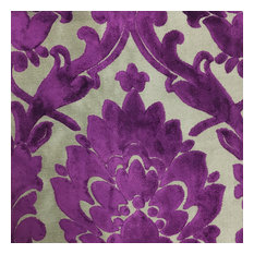 Top Fabric Radcliffe Burnout Velvet Damask Upholstery Yard Grape