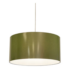 Metallic LED Drop Pendant, Green Shades, 23.7""