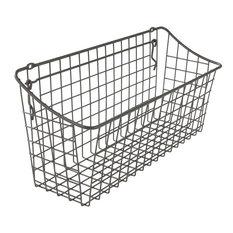 Wall Mount Wire Basket - 15.25 W x 7 H x 5.5 D