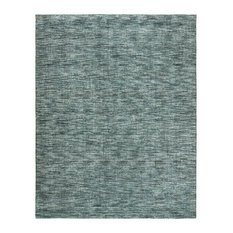 TERRA Ocean Waves Hand Made Wool and Silkette Area Rug, Blue, 12'x15'