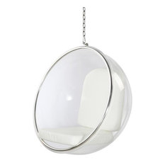 Aron Living   Aron Living Bubble Patio Chair, White   Hanging Chairs