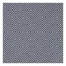 "Labyrinth Weave Fabric, Navy, 52""x36"""