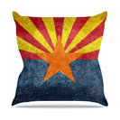 "Bruce Stanfield ""Arizona State Flag Retro Style"" Blue Outdoor Throw Pillow"