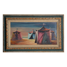 Philippe Alfieri, Circus Tents, Oil Painting