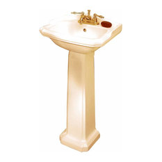 Renovatoru0027s Supply   Traditional Pedestal Sink Biscuit China Cloakroom  Centerset   Bathroom Sinks