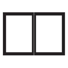 ECS DVDB36CBL Rectangle Door Set, Matte Black