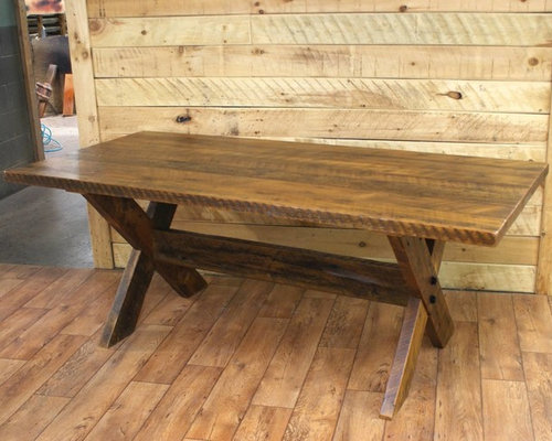reclaimed wood dining room tables