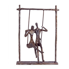 Danya B Couple on a Swing Cast Bronze