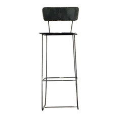 Tuttotondo Industrial Iron Bar Stool, With Backrest