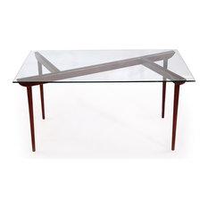 Oval Glass Dining Table oval glass dining table   houzz