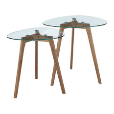 convenience concepts clearview nesting end tables coffee table sets