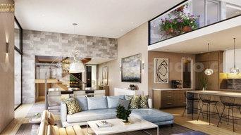 Modelado 3D de interiores de espacios residenciales modernos, Córdoba -España
