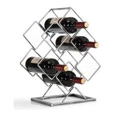 Danya B. Antique Silver Electroplated 6-Bottle Wine Rack