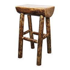 Montana Woodworks   Glacier Country Collection Half Log Bar Stool   Bar  Stools And Counter Stools