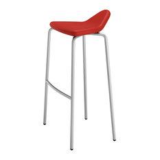 Plectrum 4-Legged Stool, Red, High