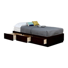 Twin Captains Bed, 3 Drawers, Espresso