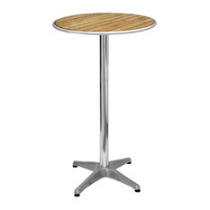 Sparrow Ash Round Poseur Table, Satin Brown