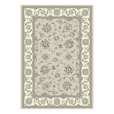 Ancient Garden 57365-9666 Area Rug, Grey and Cream, 12'x15'