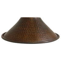 """Premier Copper Products Hand Hammered Copper 9"""" Cone Pendant Light Shade"""