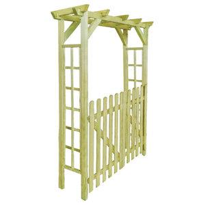 vidaXL Arbour/Rose Arch Garden Gate Impregnated Wood, 150x50x200 cm