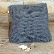 Charcoal Garter Stitch cushion Cover