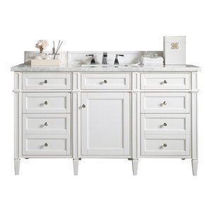 """Brittany 60"""" Single Vanity Cottage White, Base Cabinet Only"""