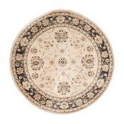 "Safavieh Vintage Collection VTG575 Rug, Ivory/Brown, 6'7"" Round"