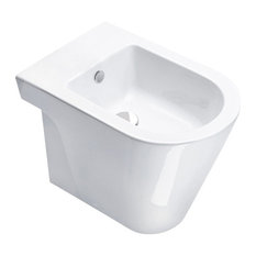New Zero 55 cm Back To Wall Bidet, White Gloss