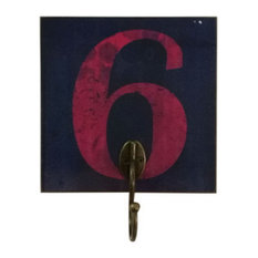 Blancho Bedding - Creative Retro Home Fitting Room Clothes Hat Key Hook, Number 6 - Wall Hooks
