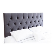 Connie Tufted Headboard, Queen/Full, Charcoal