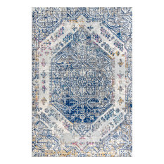 "JONATHAN Y Modern Persian Boho Vintage Cream/Blue Area Rug, 7'9""'x10'"