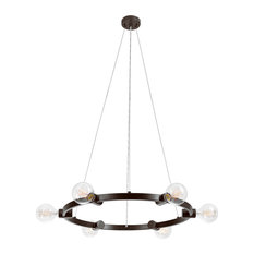 Hank 6-Light Dark Bronze Chandelier