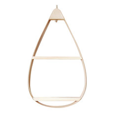 Teardrop Wooden Shelf