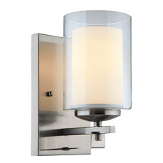 hardware house electrical 1light wallbath fixture satin nickel