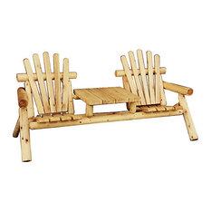 Mottou0027s Cedar Products   Outdoor Cedar T Set   Adirondack Chairs