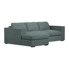 MOD - Ambre Gray Sofa Chaise Sectional, Left Facing - Sectional Sofas