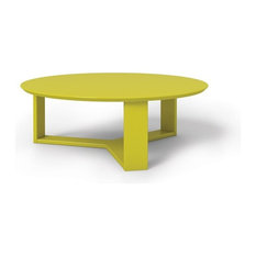 Manhattan Comfort Madison 35 78 Round Accent Coffee Table In Lime Gloss