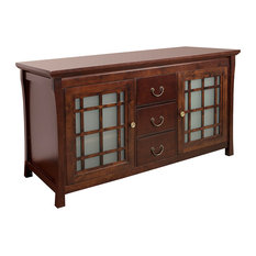 """Sachi Bathroom Vanity Cabinet Only With Frosted Glass Door, Coffee, 62"""""""