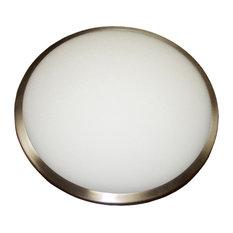 Marcellus 2-Light Flush mount, Chrome, Chrome