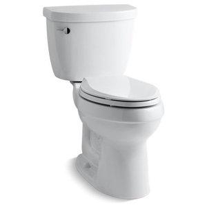 Kohler Cimarron 2-Piece Elongated 1.28 GPF Toilet w/ Left-Hand Lever, White