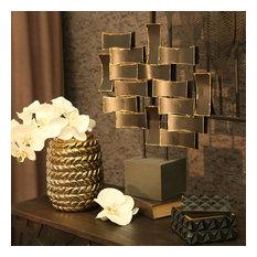 Ceramic Rope Vase, Gold