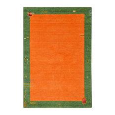 Barossa Gabbeh Wool Rug, Orange and Green, 200x150 cm