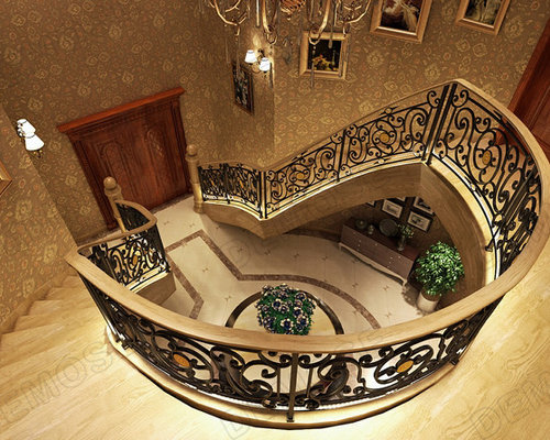 Luxurious And Classic Wrought Iron Stair Railing