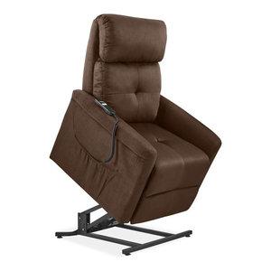 ProLounger Power Recline and Lift Chair, Chocolate Nubuck