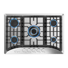"""Empava 30"""" Gas Stove Cooktop with 5 Burners NG/LPG Convertible Stainless Steel"""