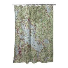 Betsy Drake Lake Winnipesaukee, NH Nautical Map Shower Curtain