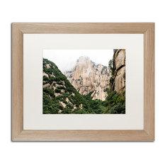 "Philippe Hugonnard 'Mt Huashan IV' Art, Birch Frame, White Matte, 20""x16"""
