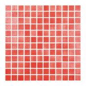 "12.5""x12.5"" Fog Red Glass Tile"