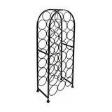 Contemporary Wine Rack, Black Finished Metal